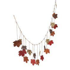 Glittered+Maple+Leaves+Garland+-+OrientalTrading.com