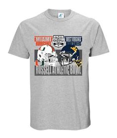 West Virginia Mountaineers 2016 Russell Athletic Bowl Duel Helmet Logo Shirt U Of Miami, Helmet Logo, Russell Athletic, Miami Hurricanes, Shirt Sale, Tees, Shirts, West Virginia, Mens Tops
