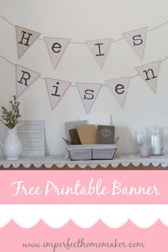 Download this free printable banner for Easter to help you remember the true meaning of the holiday!