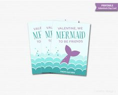 Mermaid Valentines Cards Printable Mermaid To Be Friends Valentines Classroom Valentines Kids Valentines Cards Ocean Valentines Digital DIY