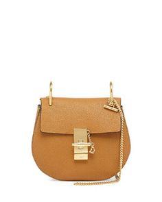 V22SN Chloe Drew Mini Chain Shoulder Bag, Tan