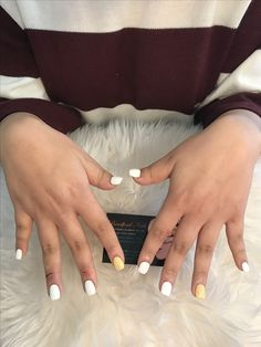 Overlays on real nails Our acrylics help her nails to grow beautifully White and yellow nails in square shape ❗️We close Friday for any enquiry Acrylic Nails Yellow, Yellow Nails, White Nails, Overlay Nails, Acrylic Overlay, White Short Nails, Short Acrylics, Short Square Nails, Nail Growth