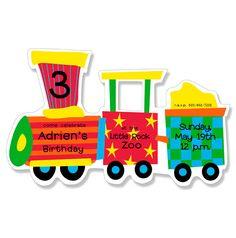All Aboard Party Invitation  #traininvitaitons #choochoo