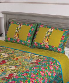 Loving this Green Floral Frida Quilt Set on #zulily! #zulilyfinds