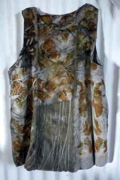 Ecoprint wool dress by India Flint
