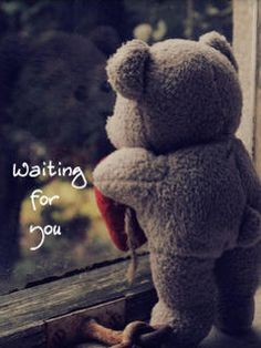 Trains, Teddy Bears and abandoned places Teddy Bear Quotes, Teddy Bear Images, Teddy Bear Pictures, Love Husband Quotes, Cute Love Quotes, Calin Gif, I Miss You Cute, Adorable Petite Fille, Miss You Friend
