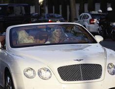 Heidi Klum in her gorgeous Bentley Convertible