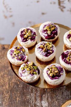 Cheesecake, Mini Cupcakes, Food To Make, Tart, Cake Recipes, Sweets, Kitchen, Bakken, Cooking