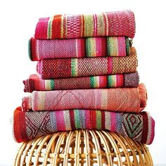 """We are so honoured! ✨ Regram from #Chatelaine -> """"Trend alert! Latin love...designers have been setting their sights on Latin American countries and getting inspiration from colourful textiles. These Peruvian blankets from cambiedesign.com can be used as throws or rugs too."""" #Cambie #Design #Handmade #Stripes #Colourful"""