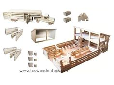 GS14 Wooden Toy Stockyard with Loft GIFT SET