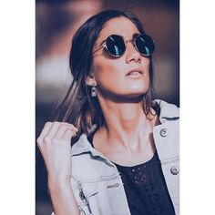 sunnglasses and jeans jacket