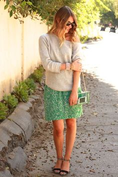 layered sweater over dress