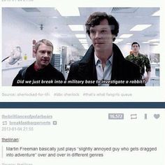Hitchhikers guide to the galaxy, The Hobbit, Sherlock, and I imagine(and kinda hope)the same will happen in the Marvel universe