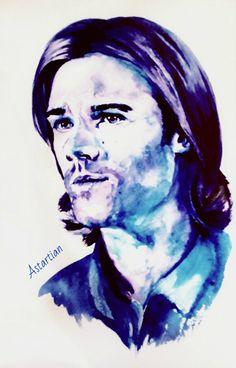 #astartian #art #drawing #traditonalart #portrait #watercolor #SamWinchester #Supernatural