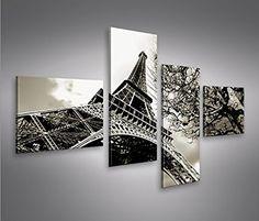 Impression sur toile Eiffelturm 4L Paris Image sur toile - Images - Photo - Tableau - Tableaux - déco murale