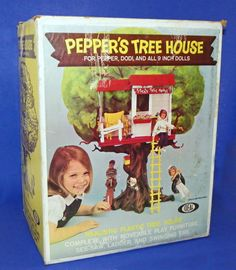 RARE Vintage Ideal 1965 PEPPERS TREE HOUSE w/ BOX & Acc Toys Tammy Dodi Doll