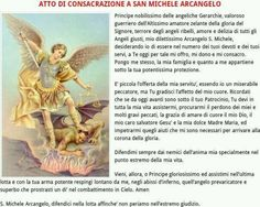 La potente Novena (anche Triduo) a san Michele Arcangelo Angel Guidance, Maria Grazia, San Michele, Archangel, Angels, Arch, Mother Teresa, Powerful Prayers, Pictures