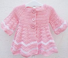 Crochet jacket with ripple stitch – Pattern PDF | love Crafs