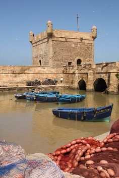 Harbor fortress at Essaouira, Morocco