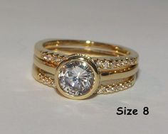3pc Wedding Ring Set Free Shipping NO FEES $15.00