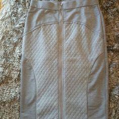 Grey BLUSH pencil skirt Zipper pencil skirt, wear with a crop top. Worn once Blush Skirts Pencil