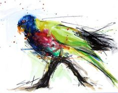 painting of a bird esey