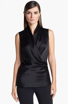 St. John Collection Surplice Liquid Satin Blouse | Nordstrom, $495