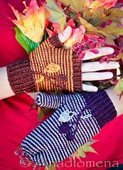 Alize Mitts pattern by Elena Nodel #knitting #mitts