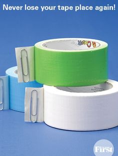 Never Lose Your Tape Place Again! You can also use a flat plastic bread closure, too!