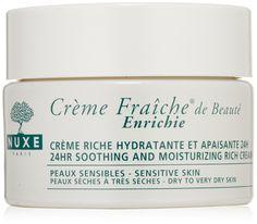 NUXE Crème Fraîche de Beauté Enrichie 24HR Soothing and Moisturizing Rich Cream for Dry Skin, 1.5 oz.