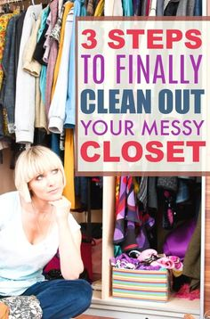 Save Time and Money by cleaning your closet.