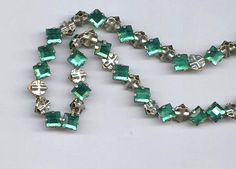 sea green vintage rose montees TWENTY FIVE 5mm square shape or 7mm on diagonal diamond shape montees, sew ons, prong set faceted crystals by beadtopiavintage on Etsy