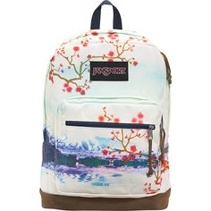 JanSport Right Pack Expressions - Multi Cherry Blossom - School... ($65) ❤ liked on Polyvore featuring bags, backpacks, multi cherry blossom, backpack bags, jansport rucksack, white laptop bag, pocket bag and jansport backpack