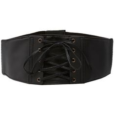Charlotte Russe Corset Stretch Waist Belt (€11) ❤ liked on Polyvore featuring accessories, belts, black, weave belt, charlotte russe and snap belt