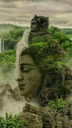 Ganga mata (water goddesses) flowing over lord Shiva Rudra Shiva, Mahakal Shiva, Shiva Statue, Shiva Art, Krishna Krishna, Lord Shiva Hd Wallpaper, Lord Hanuman Wallpapers, Lord Shiva Pics, Lord Shiva Family