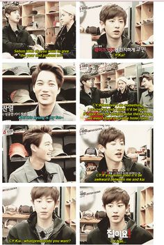 EXO'S SHOWTIME épisode 3 Chanyeol le fan de Kai <3