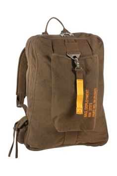 Rothco Vintage Canvas Flight Bag in Earth Brown