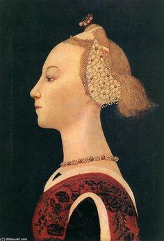 'portrait d'un dame', huile sur toile de Paolo Uccello (1397-1475, Italy)
