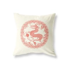 Vintage Style Cushion for use in the Living Room, Bedroom, Children's Playroom and more! Vintage Cushions, Chinese Dragon, Playroom, Prints, Style, Art, Swag, Art Background, Game Room Kids