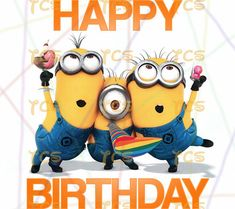 Printable DIY Minions Happy Birthday Despicable Me Universal Minion  DIGITAL IMAGE instant download