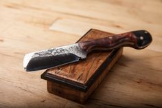 Chisel Tip Handmade knife by BiltSharp on Etsy