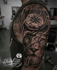 Dadddee es en voor bovenarm vooral de combinatie de leeuw wel nog anders?