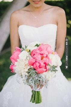 bright pink peony wedding bouquet See more | VIA #WEDDINGPINS.NET