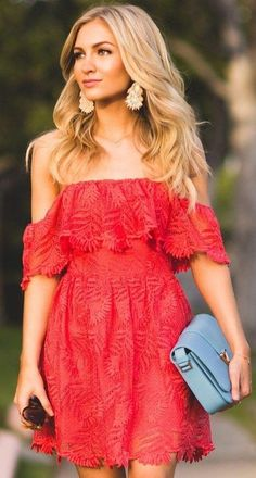 #summer #fashion #outfitideas |  Red Vacay Dress