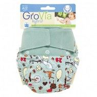 GroVia Onesize All-in-two Nappy System Hybrid Nappy Shell Print: Grapefruit Stars Size: Onesize (fits most babies from approx Available in snap or hook/loop closure NB. absorbent soaker pads require to be purchased separately Modern Cloth Nappies, Cloth Diapers, Free Diapers, Set Cover, Be Natural, Wishes For Baby, Diaper Covers, Baby Love, Organic Cotton