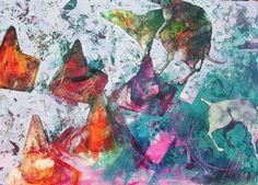Original Animal Painting by Ula Dzwonik Street Game, Contemporary Artists, Wood Art, Saatchi Art, Original Paintings, Fine Art, Portrait, Abstract, Artwork