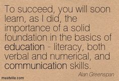 Importance of education to succeed