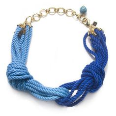Sequin Cleopatra Rope Necklace, Blue/Turquoise - Polyvore