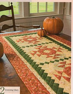 Fall Autumn Table Runner
