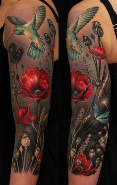 Red Rose Tatto Ellen